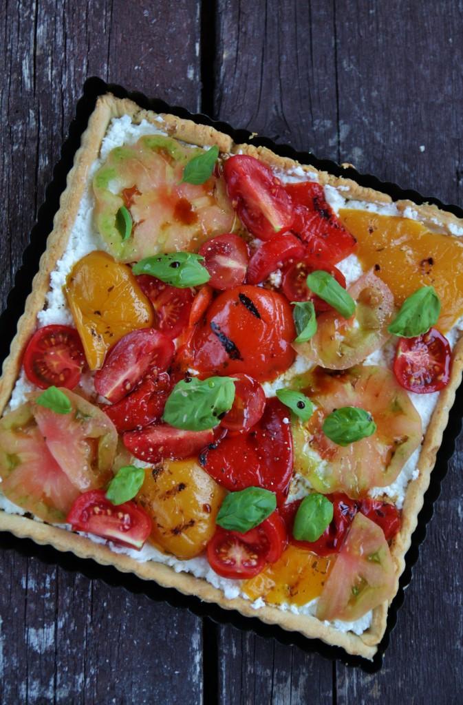 tarte ricotta e pomodori
