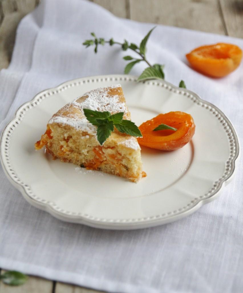 torta albicocche e menta