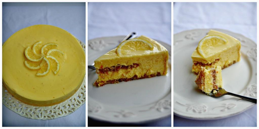 Lemon dessert Collage