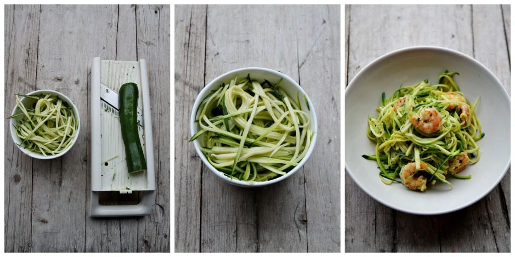 Zucchini noodles Collage