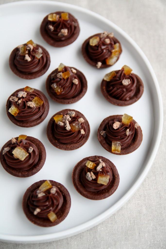 Tartellette mignon al cioccolato