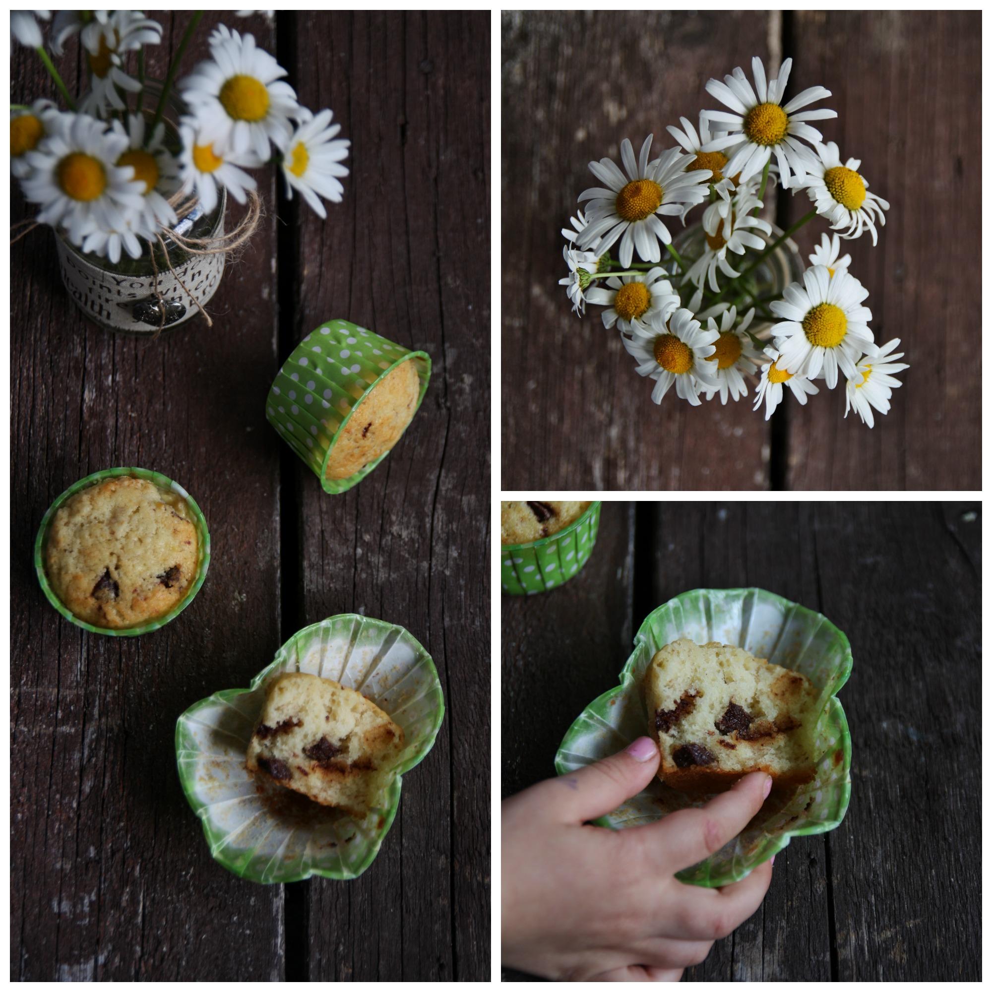 Muffins alle banane e cioccolato