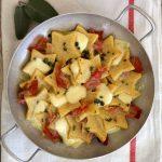 Stelle di polenta con speck di Sauris e Fontina DOP