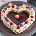 Cream tart con namelaka al cocco e lamponi