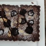 Crostata al cioccolato e ciliegie