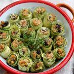 Involtini di zucchine con tonno e olive Taggiasche