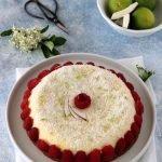 Cheesecake con cocco e lamponi