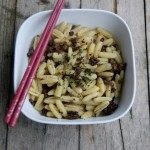 Gnocchetti sardi con manzo croccante