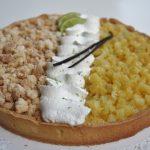 Crostata esotica all'ananas, vaniglia, cocco e lime
