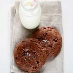 Cookies al cioccolato con cuore alla Nocciolata