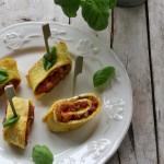 Omelette arrotolata alla ratatouille