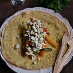 Crêpes di miglio con verdure al miele di timo e feta