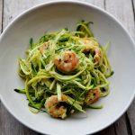 Spaghetti di zucchine con mazzancolle