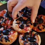Spider pizzette per Halloween