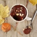 Mug cake al cioccolato e crema di marroni