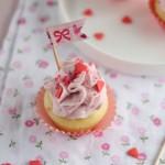 Cupcake alla crema di mascarpone e lamponi
