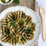 Melanzane grigliate con olio all'aglio e prezzemolo