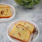 Plum cake salato con speck e formaggio