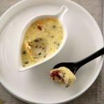 Crème brûlée al Parmigiano e pomodorini confit