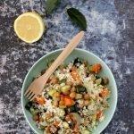 Cous cous di cavolfiore e verdure al forno