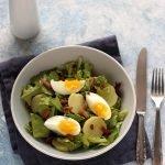 Insalata di radicchio, uova e patate